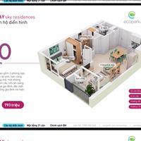 Bán căn hộ chung cư Westbay Ecopark, 50m2, view mặt trước, giá rẻ