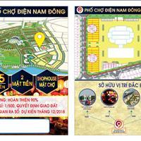 Bán nhanh lô đất chính chủ 2 mặt tiền trước cổng chợ Điện Nam Đông chỉ 1,5 tỷ/lô