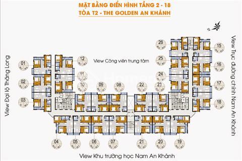 Bán cắt lỗ chung cư The Golden An Khánh, tầng 1512 66,8m2 - 18T1 và tầng 1218 69m2, 860 triệu