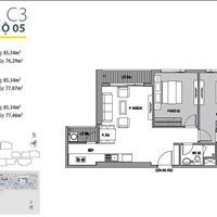Căn 2 phòng ngủ rộng nhất dự án, miễn phí 5 năm phí dịch vụ