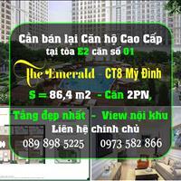 Chính chủ bán lại căn hộ chính chủ tại tòa E2 căn 01, 86,4 m2, 2 PN, tầng đẹp nhất, view nội khu