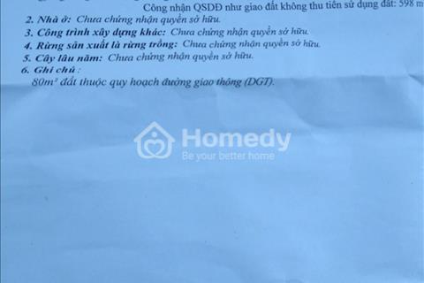 Đất thổ cư giá rẻ xã Suối Hiệp, Diên Khánh diện tích 798m2