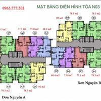 Chính chủ bán gấp căn hộ chung cư K35 Tân Mai, căn 1505 tòa NO3A diện tích 78m2, giá 22 triệu/m2