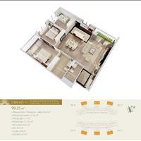 Bán căn góc 3 phòng ngủ mặt đường vành đai 2, 98m2, view sông Hồng, Hồ Gươm, giá 3.8 tỷ