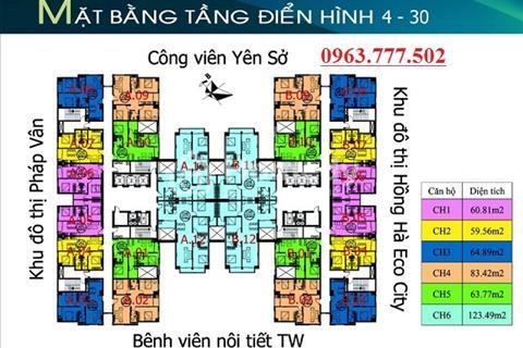 Chính chủ bán căn hộ chung cư Tứ Hiệp Plaza, tầng 1209, diện tích 83,4m2, giá bán 18 triệu/m2