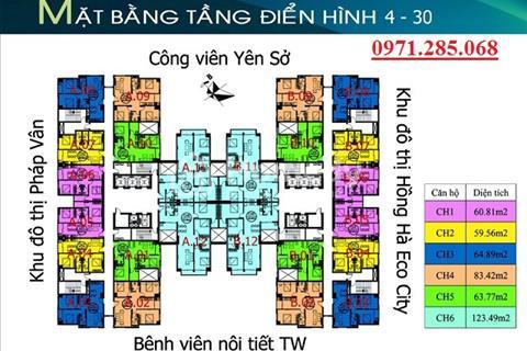 Chị Ngân bán căn hộ tầng 12 căn 11, diện tích 121m2 chung cư Tứ Hiệp Plaza bán giá 18 triệu/m2