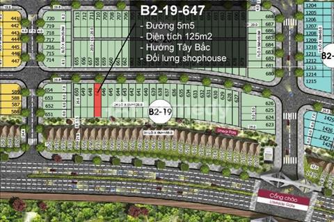 Cần tiền bán gấp đất khu đô thị Lakeside Palace vị trí đối lưng Shophouse đường Mê Linh