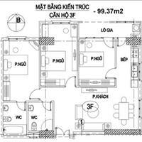 Bán chung cư Intracom Trung Văn, 99m2, 3 phòng ngủ, căn góc