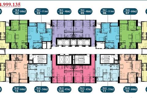 Chính chủ bán căn hộ chung cư Intracom Đông Anh, tầng 1008 - 66m2, giá 20,5 triệu/m2