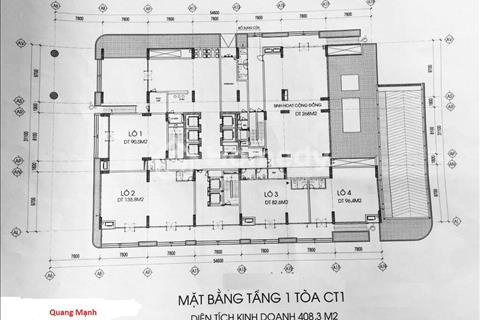 Bán Shophouse, kiosk, văn phòng – Tòa CT1 chung cư 43 Phạm Văn Đồng, Cổ Nhuế 2