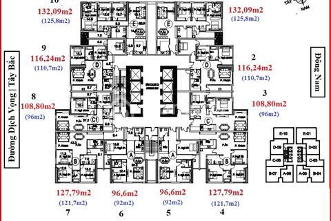 Chính chủ bán chung cư FLC Twins 265 Cầu Giấy, căn hộ 1810, 127m2, giá bán 33 triệu/m2