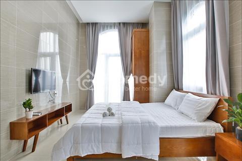 Cho thuê căn hộ tiện ích, mới xây 100%, full nội thất, khu vực sầm uất, DV vệ sinh 2 lần/tuần