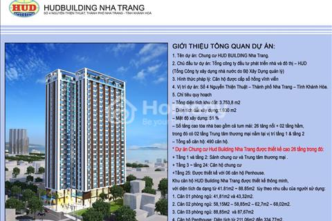 Giá tốt căn hộ chung cư HUD Building ngay trung tâm thành phố Nha Trang