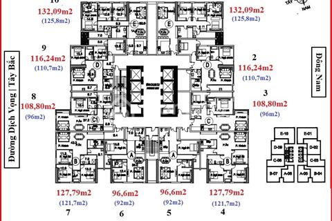 Chính chủ cần bán gấp chung cư FLC Cầu Giấy căn 1503, DT 98.4m2, giá 31.5tr/m2