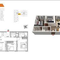 Chung cư đang xây, gần ngã 4 Thanh Xuân, 2 phòng ngủ, 2 WC, 61 - 70m2
