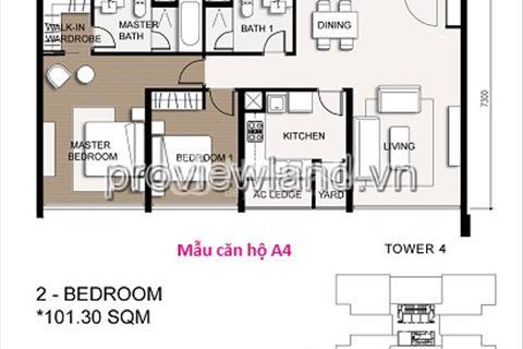 Bán căn hộ The Vista 101m2, 3 phòng ngủ, nội thất cao cấp bán lỗ