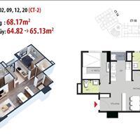 Nhận đặt chỗ căn 2 phòng ngủ, 2 vệ sinh, 64m2 tầng 8 dự án Hateco Apollo Xuân Phương