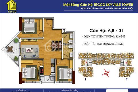 Chung cư Tecco Skyville Tower Thanh Trì- Dự án xanh, sạch, thoáng