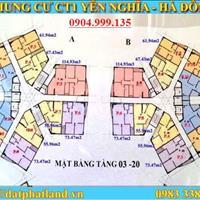 Tôi chính chủ bán gấp chung cư CT1 Yên Nghĩa căn 1202 tòa A DT 61.94m2, giá 12tr/m2.