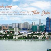 Cần bán căn hộ 2 phòng ngủ dự án Thảo Điền cuối cùng trực diện sông