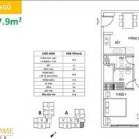Bán căn góc, có ban công, 79m2, 2 phòng ngủ, 1 phòng khách, ban công, bếp, 2,1 tỷ