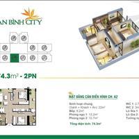 Căn hộ 2 phòng ngủ giá gốc chủ đầu tư, view đẹp dự án An Bình City