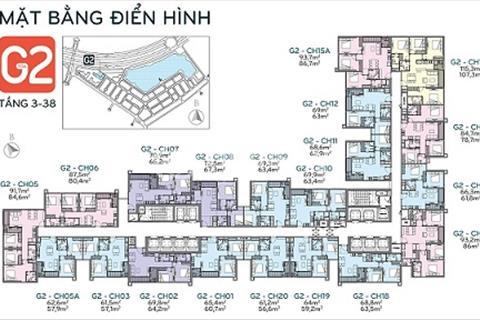 Bán căn góc 3 phòng ngủ tòa G2, đẹp nhất dự án Vinhomes Green Bay