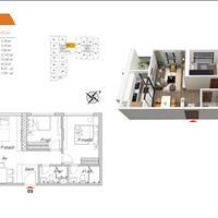 Chung cư quận Hoàng Mai, 2 phòng ngủ, 2WC, 69m2, giá chỉ 2,1 tỷ