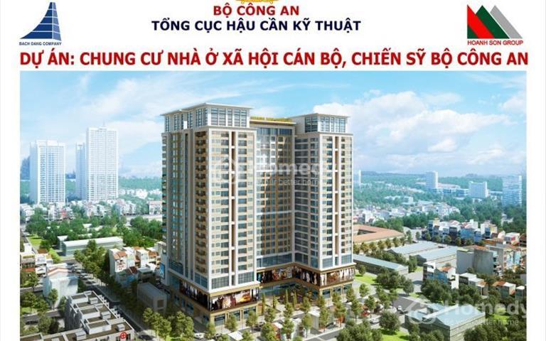Chung cư nhà cán bộ Chiến sĩ 282 Nguyễn Huy Tưởng (Bộ Công an) 70m2, 16 triệu/m2