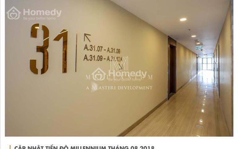 Văn phòng hạng A Millennium đường Bến Vân Đồn, view quận 1, CK khủng, sổ vĩnh viễn, bàn giao ngay