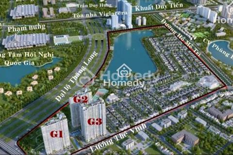 Bán gấp căn hộ chung cư cao cấp tại dự án Vinhomes Green Bay - Mễ Trì, diện tích 72,5m2