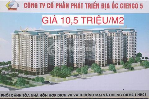 Sở hữu ngay chung cư  B2.1 tòa HH03 Thanh Hà chỉ với hơn 200 triệu - 10,5 triệu/m2