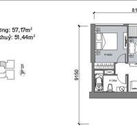 Cần tiền bán gấp căn hộ 1.5 phòng ngủ Vinhomes Metropolis Liễu Giai căn M2-0609