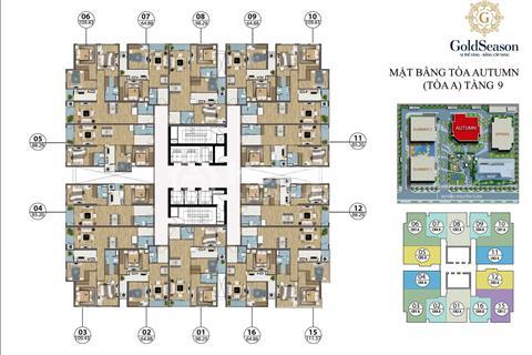 Chính chủ bán cắt lỗ 200 triệu căn 2 và 3 phòng ngủ dự án GoldSeason 47 Nguyễn Tuân