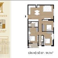 Duy nhất căn góc 3 phòng ngủ đẹp nhất dự án Tây Hồ Residence, view trực diện Hồ giá 4,2 tỷ, full đồ