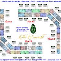 Bán cắt lỗ 200 triệu, chung cư The Emerald, 1602 80m2 và 1604 96m2, giá 34 triệu/m2 miễn trung gian