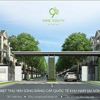 Bán biệt thự Nine South Estates, mặt tiền Nguyễn Hữu Thọ, đã có sổ hồng, giá tốt để đầu tư
