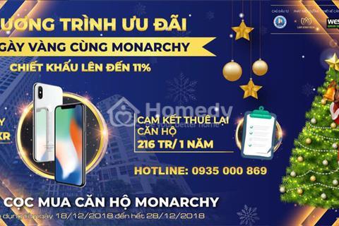 Sự kiện 10 ngày vàng mua 1 tặng 1 tại căn hộ Monarchy Đà Nẵng, cam kết cho thuê lại 216 triệu/năm