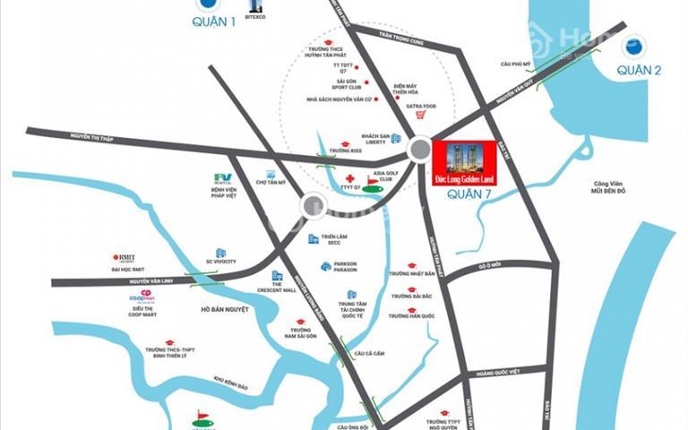Chính chủ bán gấp căn hộ Đức Long Golden Land Quận 7 căn A22-06 view sông Sài Gòn giá 2,1 tỷ