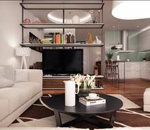 Thiết kế phòng khách chung cư Hà Đô Park View