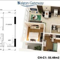 Cần bán lại căn hộ Saigon Gateway - 55m2 - tầng 10, gần ngã 4 Thủ Đức, mặt tiền Xa Lộ
