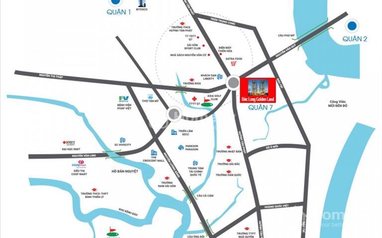 Chính chủ bán gấp căn hộ Đức Long Golden Land mã căn B25-02, view sông Sài Gòn, giá 2,1 tỷ