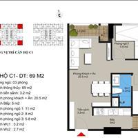 Bán căn 70m2, 3 phòng ngủ ngay Mỹ Đình giá 1,6 tỷ, view hồ, có thương lượng – full nội thất