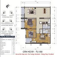 Căn hộ 3 phòng ngủ GoldSilk Vạn Phúc Hà Đông 114m2, sổ đỏ chính chủ, 19,5 triệu/m2 (thương lượng)