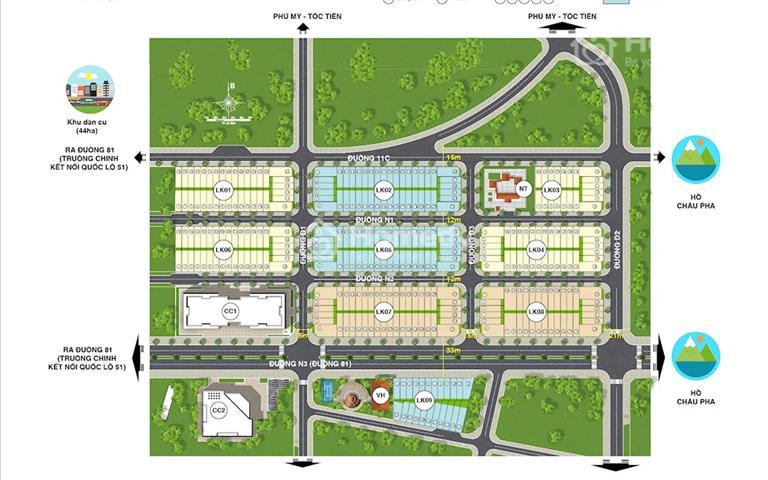 Nhận giữ chỗ đất nền Eco Town Phú Mỹ, Vũng Tàu - giai đoạn đầu tiên - thanh toán linh hoạt - CK 3%