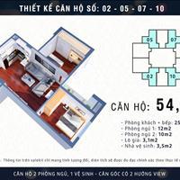 Chỉ với 950 triệu sở hữu ngay căn hộ 2 phòng ngủ, 54m2 tòa M3 Mipec City View Hà Đông