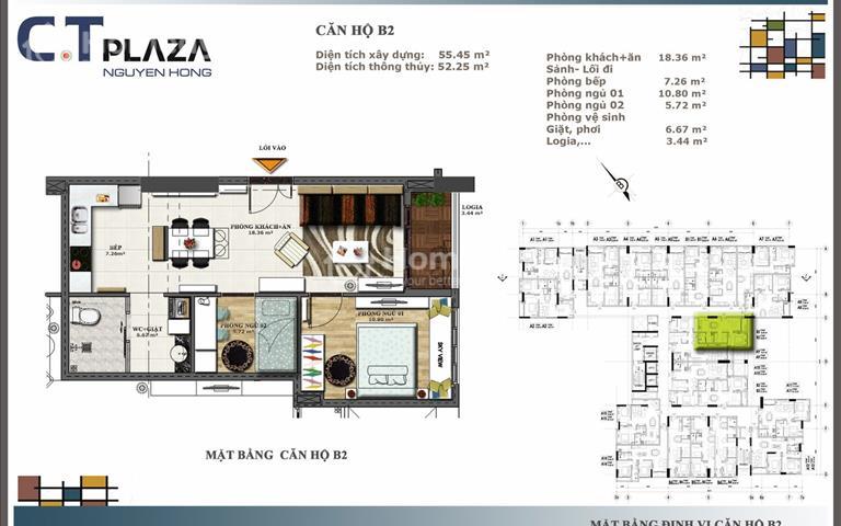 Bán căn hộ nhỏ 2PN, 1wc ngay đại lộ Phạm Văn Đồng, 1.9 tỷ (VAT), nội thất cao cấp, tầng cao thoáng