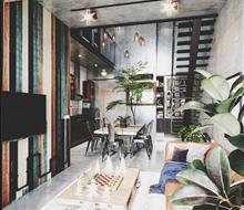 Thiết kế và thi công căn hộ Industrial - Scandinavian