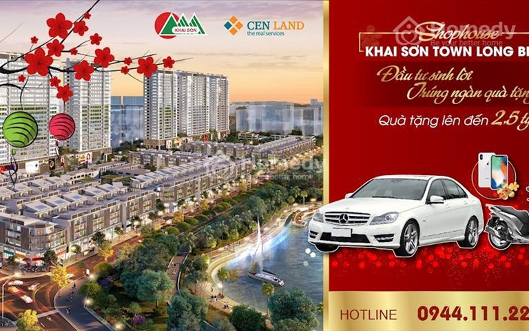 Shophouse Khai Sơn Long Biên chiết khấu 2%, cơ hội sở hữu ô tô Mercedes trị giá 1,5 tỷ