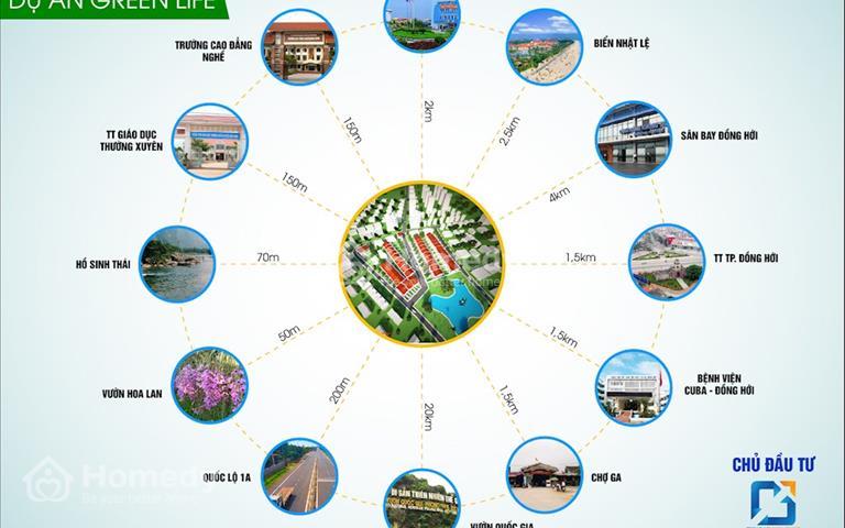 Mở bán dự án Green Life, giá rẻ nhất thành phố Đồng Hới cách trung tâm chỉ 1,5km, giá 214 triệu